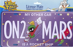 Marvin the Martian ON2 MARS License Plate