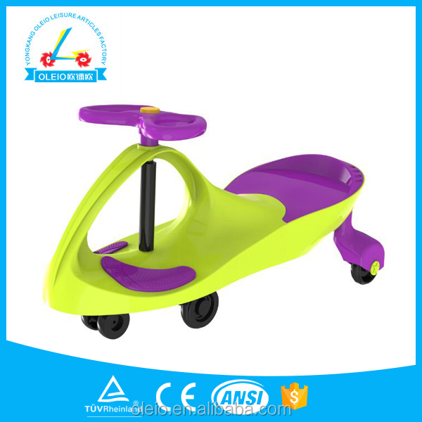Cheap plastic toy cars walker baby pedal kids swing car on foot