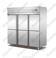 commercial stainless steel upright refrigerator/6 door upright freezer