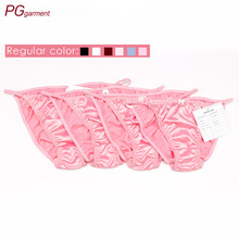 Pink Satin Bikini for Women Young Girls Panties Sexy g-string