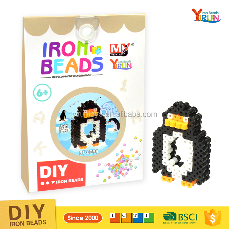 kids Educational perler beads 5mm multi colors available diy toy puzzle hama beads,penguin