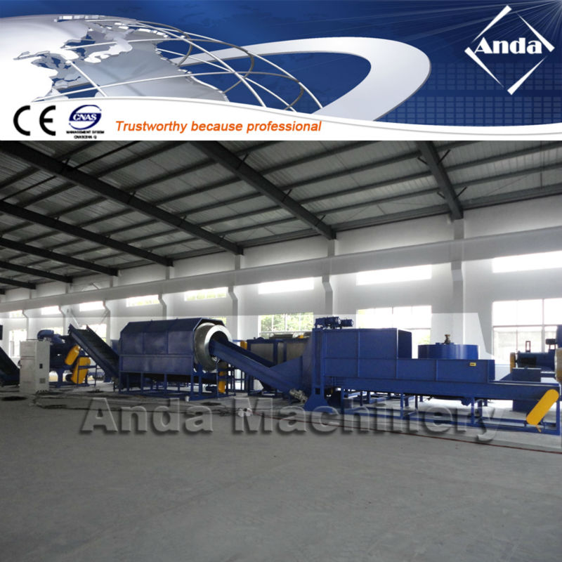 waste bottle PET recycling machine crushing washing line