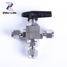 Chemical industry 3000PSI gas stainless steel 3 way ball valve