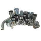 Carbon Steel Coupling Galvanized Pipe Fittings , Fitting Connection Pipe Nipple Distributor