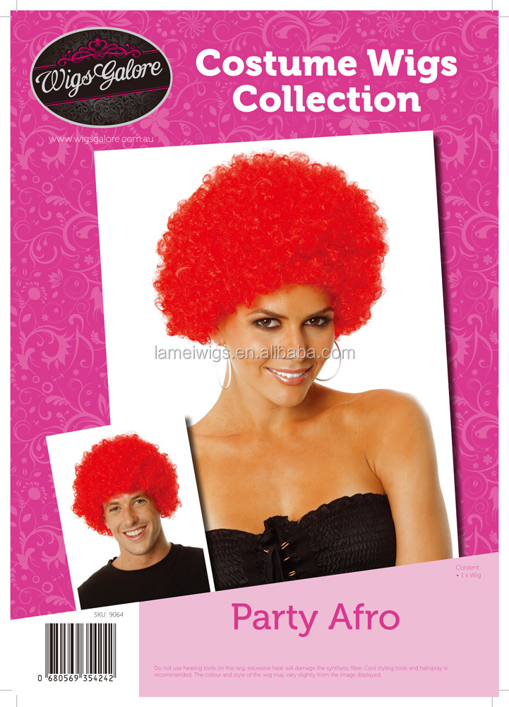 Newlook Q9064 Fashion hair red wigs volume explosion curly hair weft
