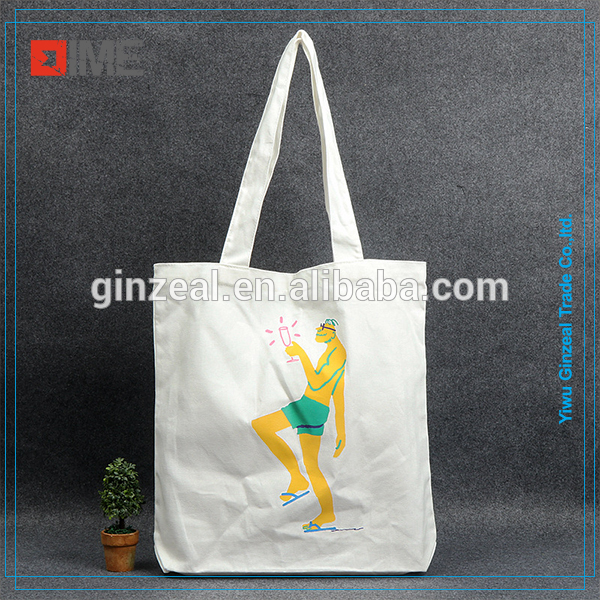 Custom Printed 10oz Cotton Canvas Shopping Tote Bag