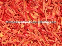 Fresh frozen red pepper slices golden Chinese supplier 2016