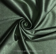 Polyester spandex nylon shiny dazzle plain tricot fabric for uniform garment sportswear curtain school wear breathable blackout
