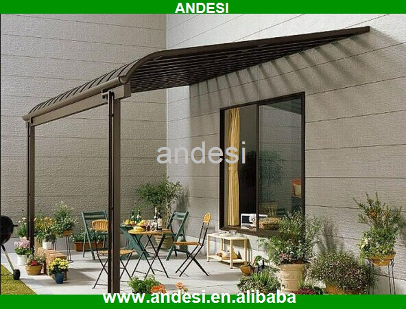 outdoor pergola canopy with metal sliding roof