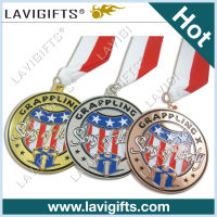 gold / nickel / bronze custom sport award metal medallion