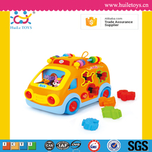 Huile toys plastic toy bus with EN71