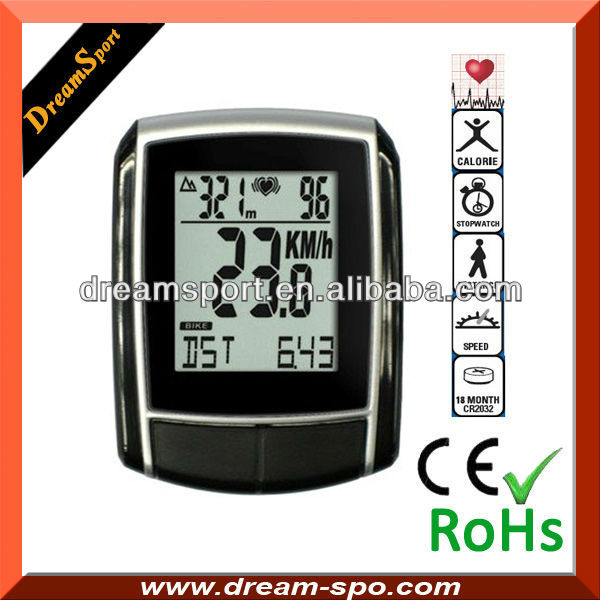 Cycling computer/bike speedometer/vehicle power meter with HRM GPS and cadence