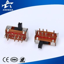 Customized 4 pin 3 way position toggle slide switch
