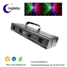 Most creative made in china product Disco DMX Red Green Purple 4 eyes led car door logo laser projector light