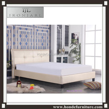 fancy bed design luxury faux leather double bed in full size