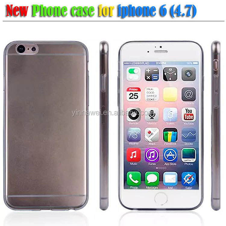 NEW HOT! cheap phone cases, clear crystal tpu mobile phone case for iphone 6 thin than 0.5mm