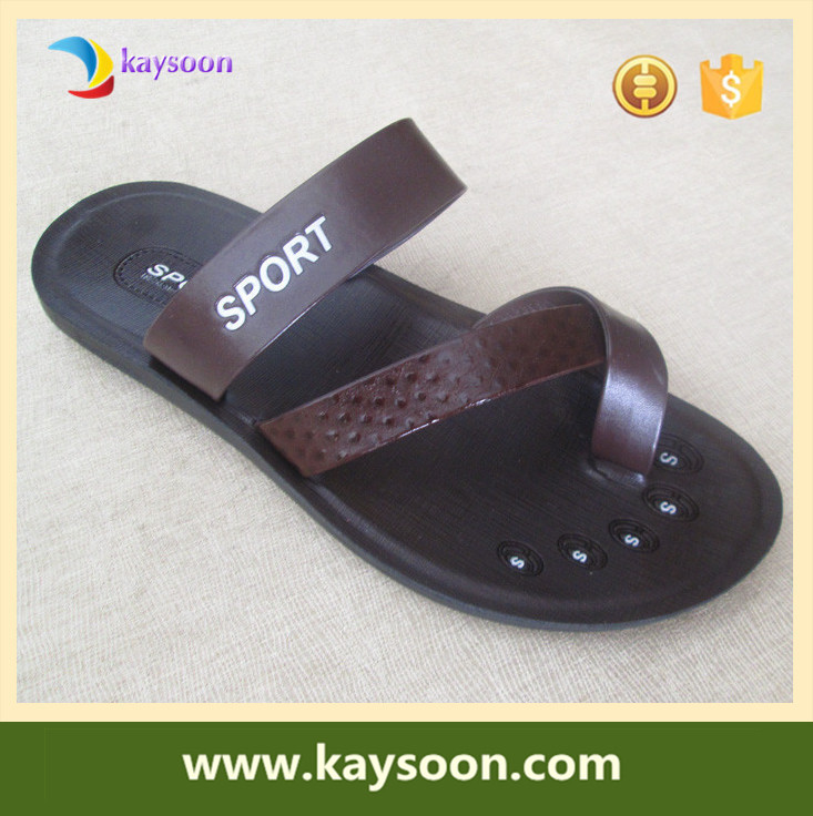 Latest design cool man leather beach sandals slippers shoes