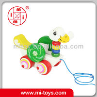 wooden pulling string duck walking toy