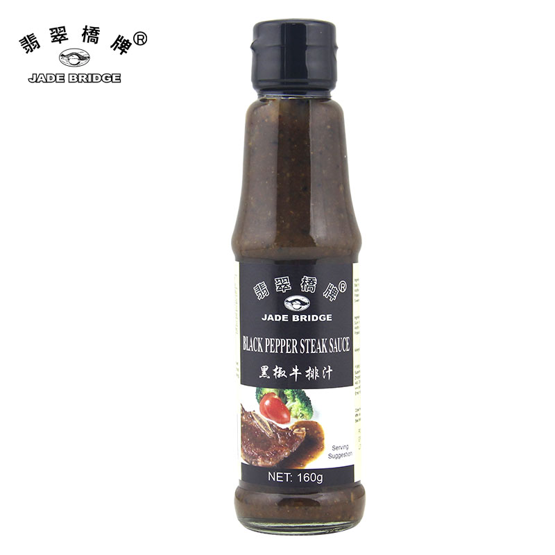 High quality black pepper steak sauce 160g with OEM service