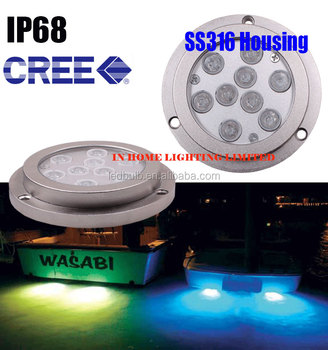 High quality 27W LED underwater RGB marine lights used for marine, pool, pond, fountain