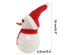 16cm battery operated christmas decoration acrylic snowman led christmas snowman