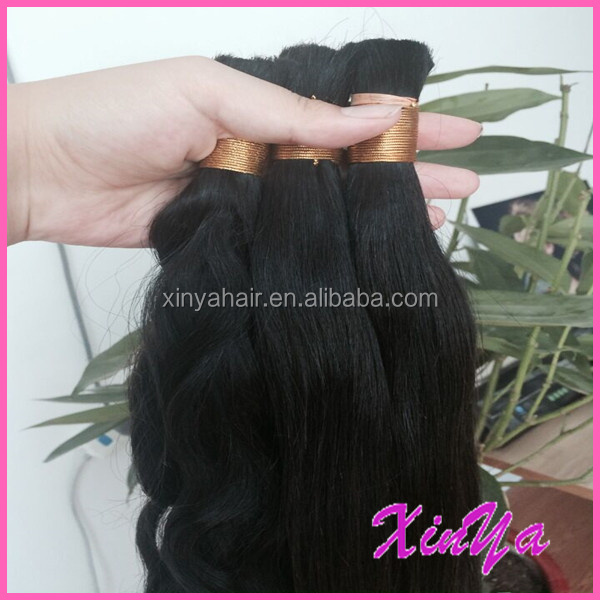 Best Selling Products Wholesale Natural Black Top Quality 7A Virgin bulk hair for wig making