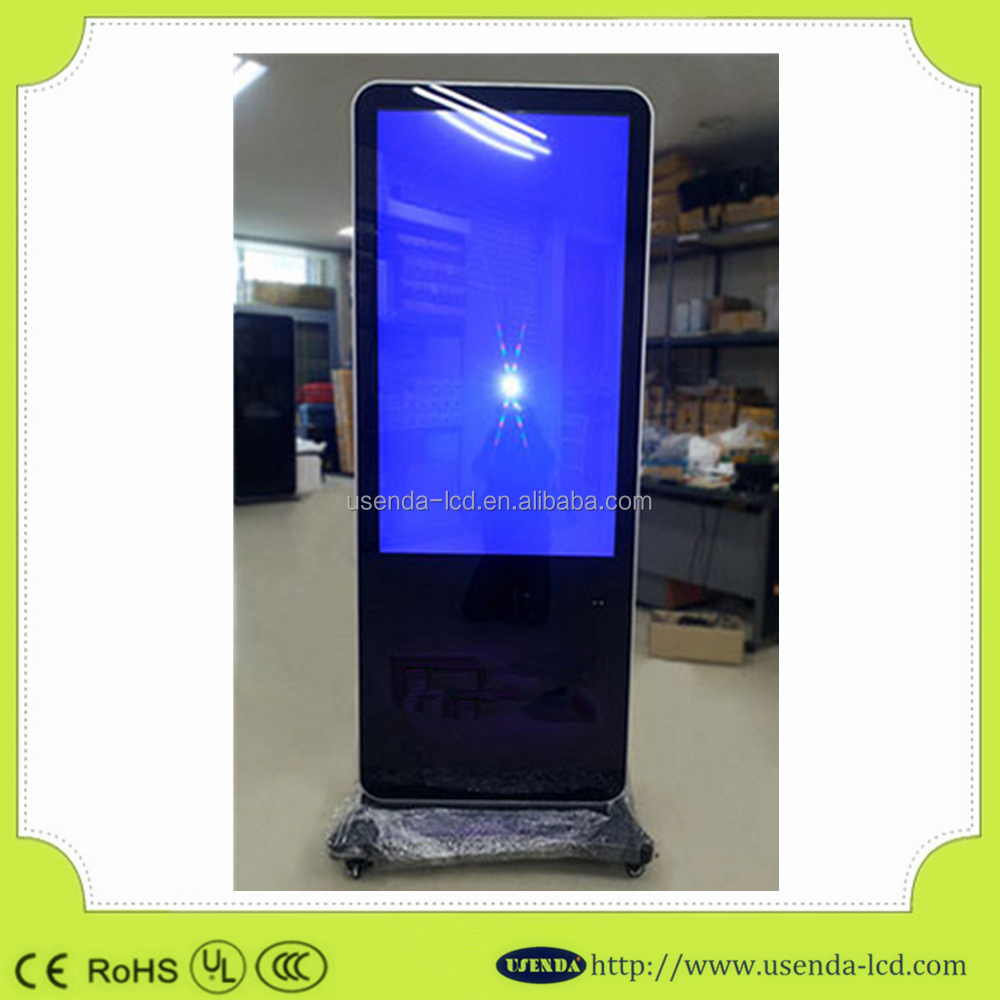 "42""46""55"" Freestanding Wireless WiFi Remote LCD/LED Advertising Industrial TFT Display for Digital Signage Player"