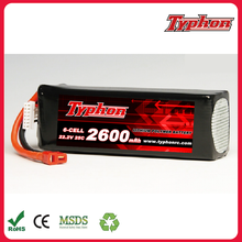 RC Lipo Battery 6S 22.2V 2600mah 25C Dean XT60 For DIY FPV RC Helicopter Quadcopter Drone Multicopter