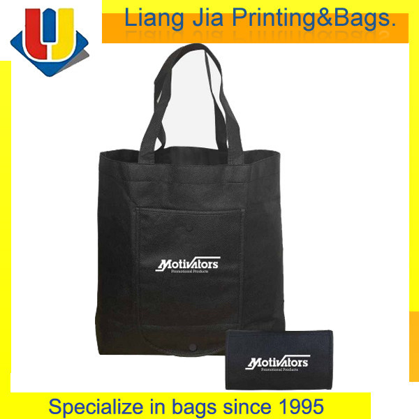 Non Woen Foldable Shopping Bag With Front Pocket