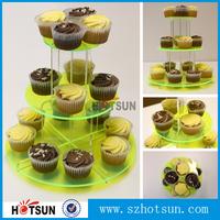 Custom acrylic 3, 4, 5 tier dessert stand cupcake display