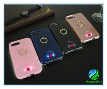 Cell phone case for iphone6/6 plus,7/7 plus with special ring design and LED light