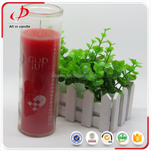 Wholesale China church praying religious red glass candle