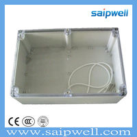 SAIP/SAIPWELL 240*160*120 Outdoor Electrical Cable Box Clear Cover Plastic Waterproof ABS IP65 Junction Box