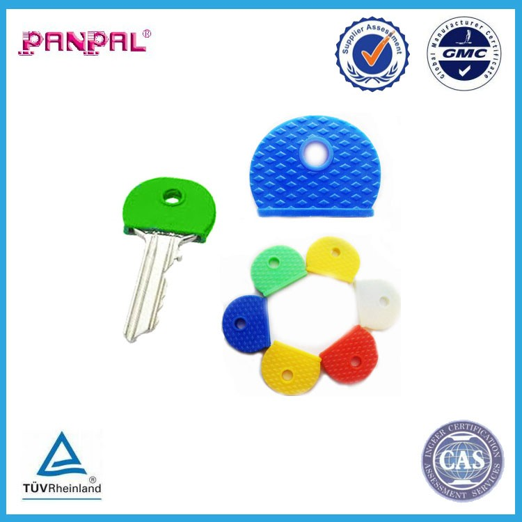 BSCI Approved factory price hot sale key cap rings plastic key identifier tag covers