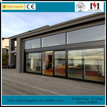 Safety toughened glass customized reasonable price aluminum channel window