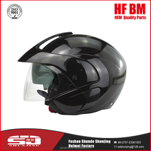 Mini black motorcycle and scooter half helmet