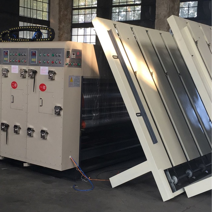 Corrugated cardboard carton box printing slotting machine