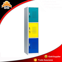 option color metal school locker high quality and inexpensive strong school three door steel locker