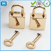 Sterling Silver Square Padlock Handbag Lock Golden Supplier