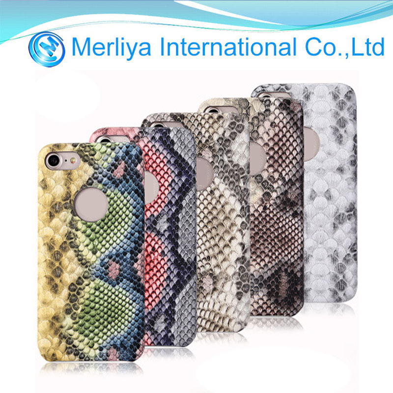 Fashion Serpentine PU Leather Cell Phone Case Cover For Iphone 6/7/8plus