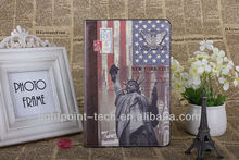 EU UK USA famous building pattern for ipad, for ipad supplier, for ipad leather case manufactory