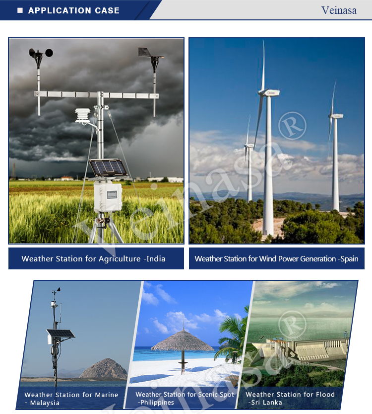 Wireless automatic weather stations with basic 5 meteorological sensors