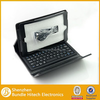 Hot selling bluetooth keyboard leather case for ipad mini, for ipad mini keyboard case, for ipad mini bluetooth keyboard