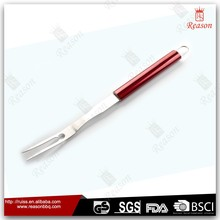 Stainless steel bbq fork meat fork with coating handle