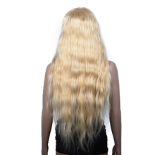 613# Blonde Color Virgin Brazilian Human Hair Long Blonde Full Lace Wig