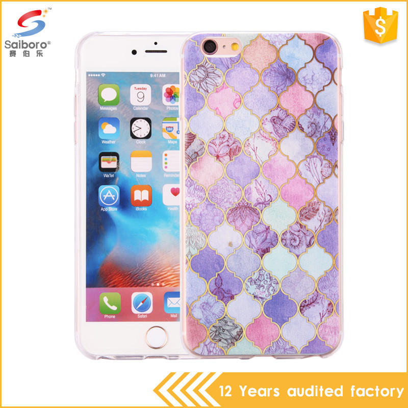 Unique design purple marble phone case for iphone 5 5s 6 6s plus 7 7plus