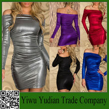 Hot Sale One Word shoulder dress ladies Sexy women Club Wear