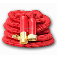 Best 25' Expanding Hose Strongest Expandable Garden Hose on the Planet. Solid Brass Ends, Double Latex Core,