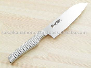 All-in-one design kitchen knife (Santoku)
