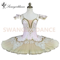 adults pink peach fairy professional classical ballet tutu with beige tulle women nutcracker tutu pancake girls BT9044C